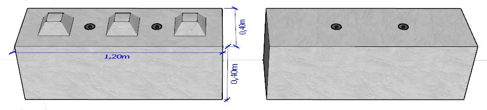 Bloc Beton BB400x400x1200