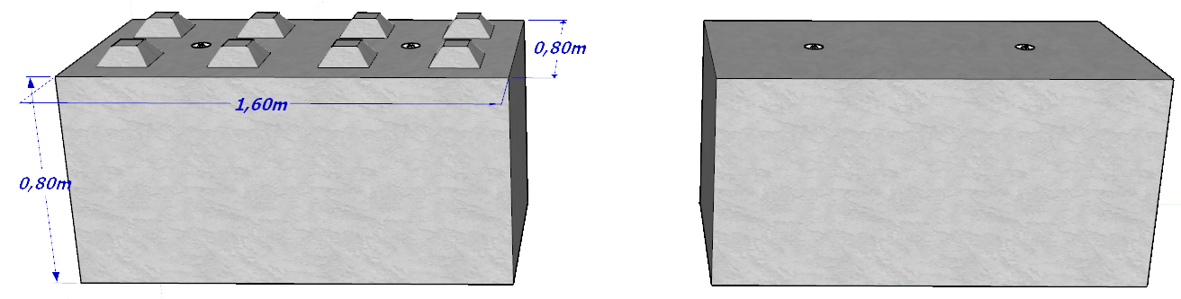 Bloc béton BB800x800x1600